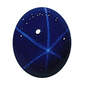 Lab-Created Blue Star Sapphire 8 x 6mm Oval Cabochon Item | 68681