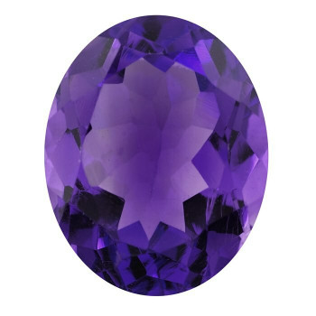 Royal Amethyst 8 x 6mm Oval Faceted Stone, AAA-Grade | 91526