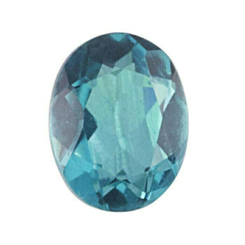 Crystal Quartz & Paraiba 10 x 8mm Oval Doublet Faceted Stone Item | 79589