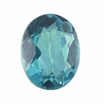 Crystal Quartz & Paraiba 12 x 10mm Oval Doublet Faceted Stone Item | 79590