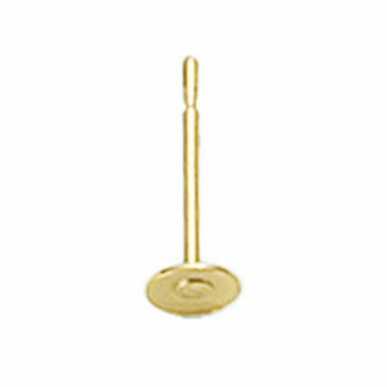 14/20 Yellow Gold-Filled 2.5mm Post Earring with Pad | Sold by Pair | 633082 |Bulk Prc Avlb|