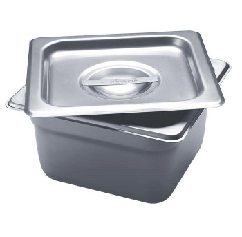 """Stainless Steel Square Firing Pan with Lid, 4""""D 