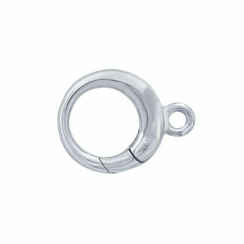 925 Sterling Silver Round Hinged Hook Clasp | Sold by Pc | 614688