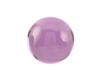 Lab-Created Round 6mm Pink Sapphire Cabochon Stone, Sold By Each | 90217
