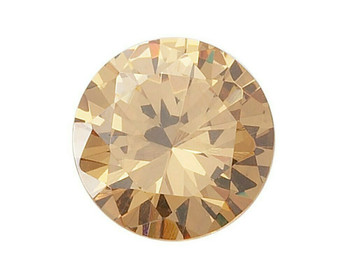Lab-Created Round 4mm Champagne CZ Faceted Stone, Sold By Each | 91351 |Bulk Prc Avlb
