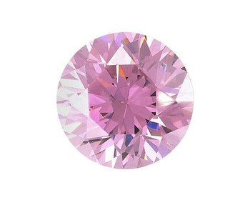 Lab-Created Round 5mm Pink CZ Faceted Stone, Sold By Each | 90145