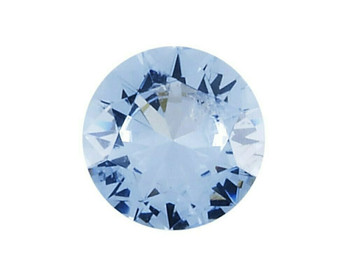 Simulated Round 3mm Aquamarine Faceted Stone, Sold By Each | 88118
