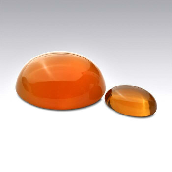American Mined Lake County Fire Opal 10 x 8mm Oval Cabochon, N |Sold by Each | 784514