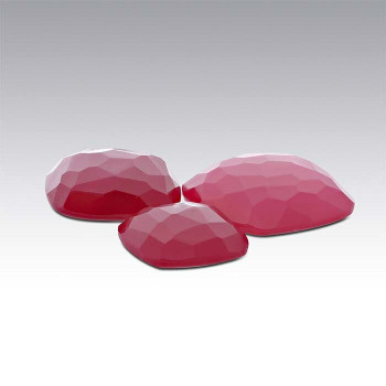 Red Chalcedony 12mm Cushion Cabochon, D |Sold by Each | 73707