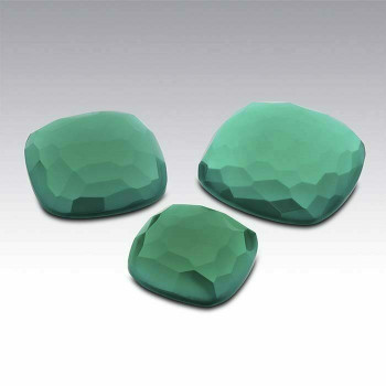 Green Onyx 12mm Cushion Cabochon, D |Sold by Each | 73701