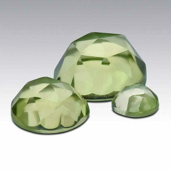 Peridot 4mm Round Rose-Cut Cabochon, N  Sold by Each   73645