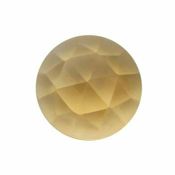 Citrine 4mm Round Rose-Cut Cabochon, H |Sold by Each | 73641