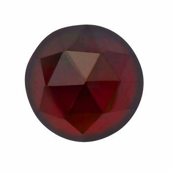 Garnet 4mm Round Rose-Cut Cabochon, N |Sold by Each| 88711