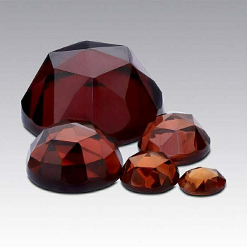 Garnet 4mm Round Rose-Cut Cabochon, N |Sold by Each| 88711