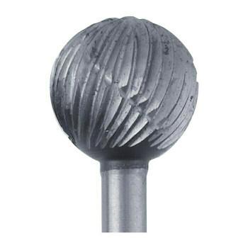 High-Speed Steel Round Bur, 7.6mm |Sold by Each| 345529