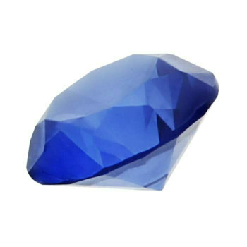 Lab-Created Blue Spinel 5mm Round Faceted Stone, S  Sold by Each   88575  Bulk Prc Avlb