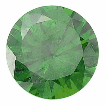 Emerald Green CZ 4mm Round Faceted Stone, S |Sold by Each| 69131 |Bulk Prc Avlb
