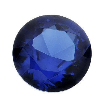 Lab-Created Blue Spinel 4mm Round Faceted Stone, S |Sold by Each| 88574 |Bulk Prc Avlb