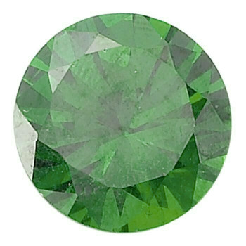 Emerald Green CZ 5mm Round Faceted Stone, S |Sold by Each| 69132 |Bulk Prc Avlb