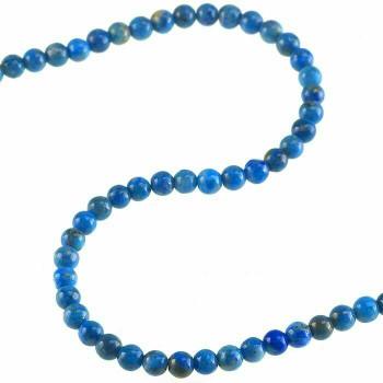 "Denim Lapis 5mm Round Bead 7"" Strand | Sold by Bag | 74030"