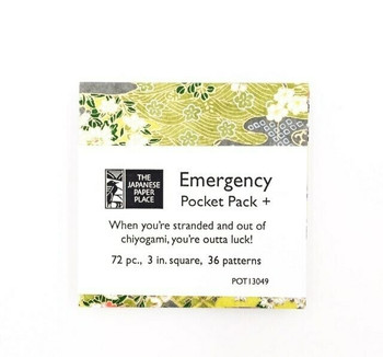 "Chiyogami Emergency Pocket Pack+ | 72 Sheets | 3"" x 3 "" 