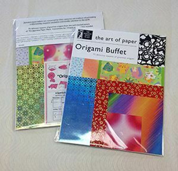 "Origami Buffet 8.5X11"" 75papers + 14 basic models instructions"
