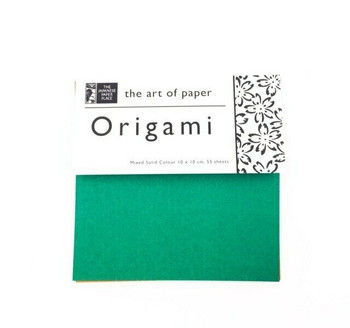 Origami Paper Pack | Solid Colours | 55 Sheets | 4 x 4"