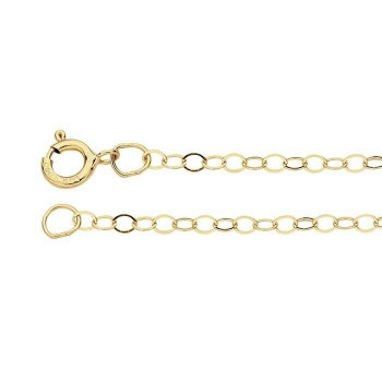 """14K Yellow Gold 1.5mm Flat Cable Chain 16"""" 