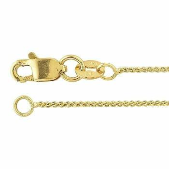 14K Yellow Gold 0.8mm Wheat Chain 16"