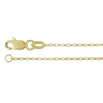 "14K Yellow Gold 1mm Diamond-Cut Oval Rolo Chain 16"" | 67617916"