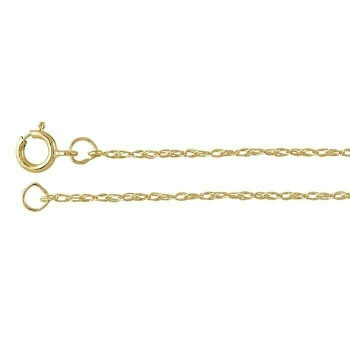 14K Yellow Gold 1mm Double-Rope Chain 18"