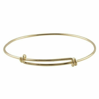 Brass Yellow Gold-Plated Expandable Bangle Bracelet | Sold By 1pc | 677285