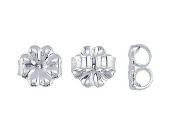 "Friction Ear Nut | 925 Sterling silver 7mm(0.28"") Medium-Weight | Sold By Pair | Bulk Prc Avlb| 690521 PR"
