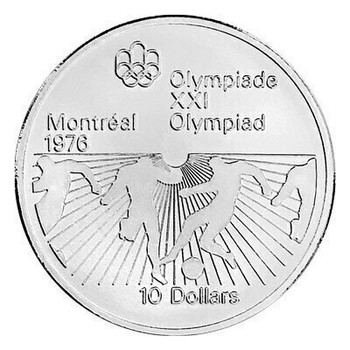 Assorted $10 Montreal Olympic Sterling Silver Coin | SGB4902