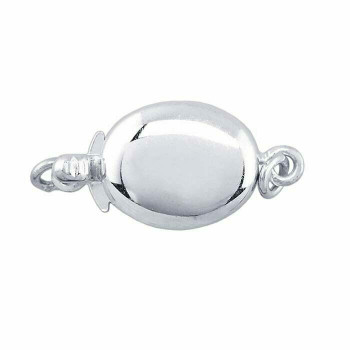 925 Sterling Silver Oval Safety Clasp 17.5 x 8 | Sold by Pc | 698282