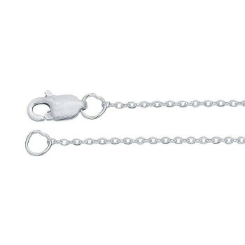 """Sterling Silver 1.1mm Flat Cable Chain 18"""" 