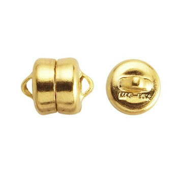 Brass Yellow Gold-Plated Mag-Lok Button Magnetic Clasps 7.8mm | Sold by Pair | Bulk Price Avlb | 61005213