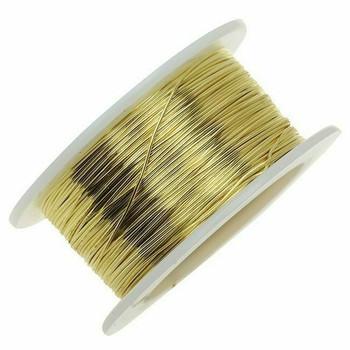 Jeweler's Brass/NuGold Round Wire, 14Ga (1.6mm)| 1lb Spool | 130314