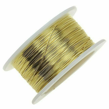 Jeweler's Brass/NuGold Round Wire, 14Ga (1.6mm)  1lb Spool   130314