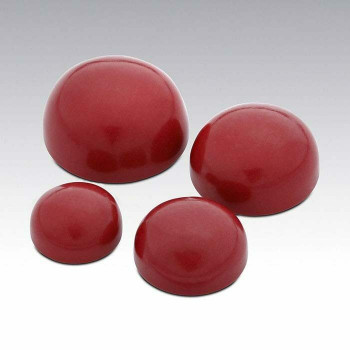 Simulated Oxblood Coral 5mm Round Cabochon, Sold By each | 88625