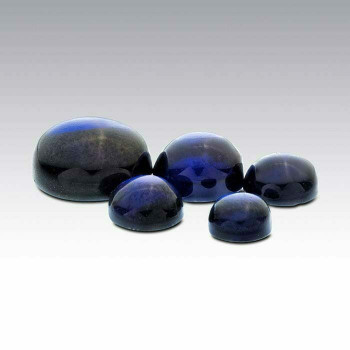 Lab-Created Sapphire 5mm Round Cabochon, Sold By each | 90211