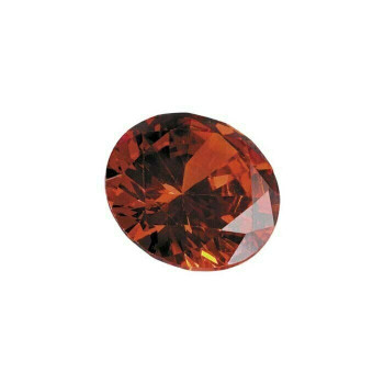 Orange CZ 5mm Round Faceted Stone, Sold By each | 69144