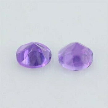 4x4x2.80 mm Round Eye Clean Purple Amethyst, Sold By each | RG017