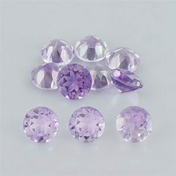 6x6x3.8 mm Round Eye Clean Pink Amethyst, Sold By each | RG015