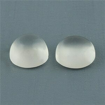 5x5x3.10 mm Round Eye Clean White Moonstones, Sold By each | RG020
