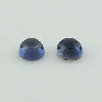 6x6x3.6 mm Round Blue Iolite, light Incl, Sold By each | RG006