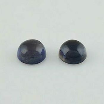 6x6x3.5 mm Round Blue Iolite, Sold By each | RG008