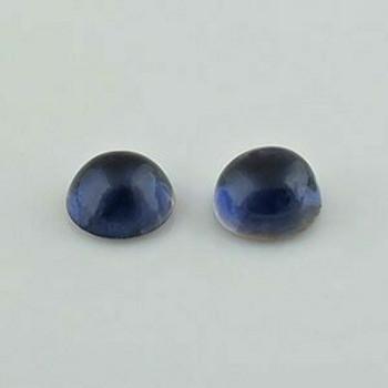 7x7x4.2 mm Round Blue Iolite  Close, Sold By each | RG010
