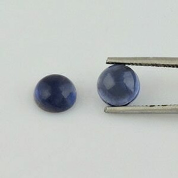 7x7x4 mm Round Blue Iolite, Sold By each | RG014