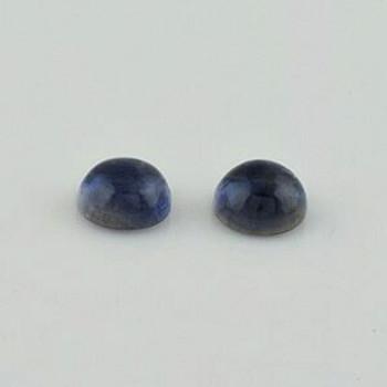 7x7x4 mm Round Blue Iolite, Sold By each | RG014